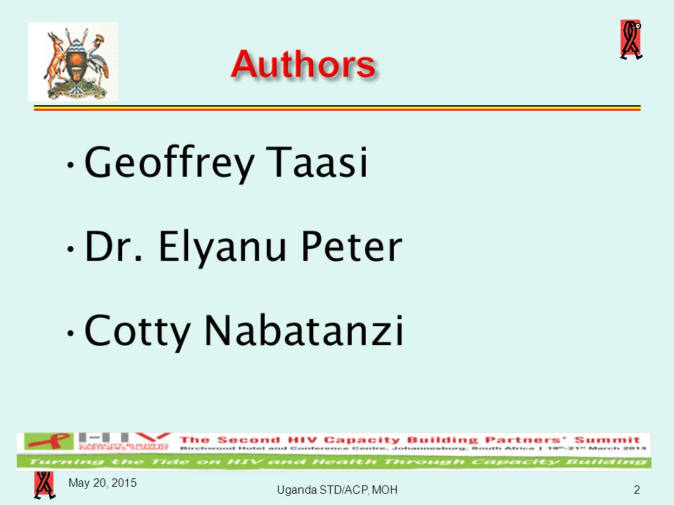 Geoffrey Taasi Dr. Elyanu Peter Cotty Nabatanzi Authors