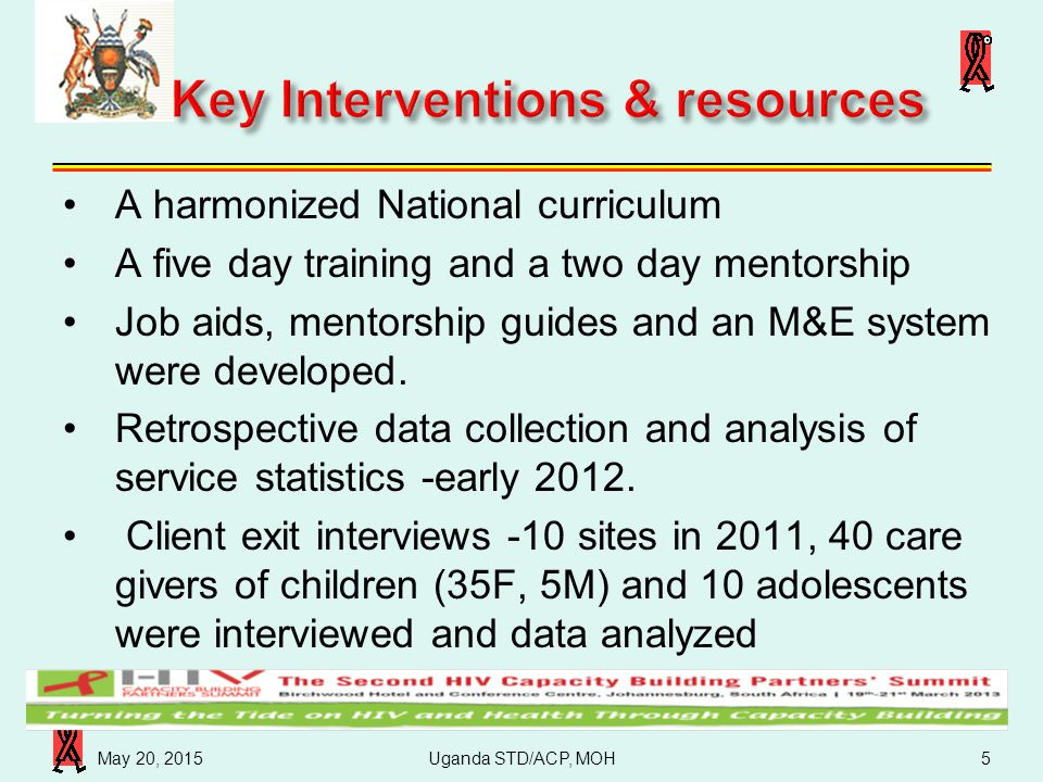 Key Interventions & resources