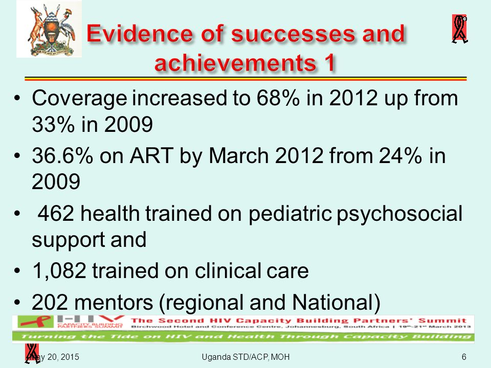 Evidence of successes and achievements 1
