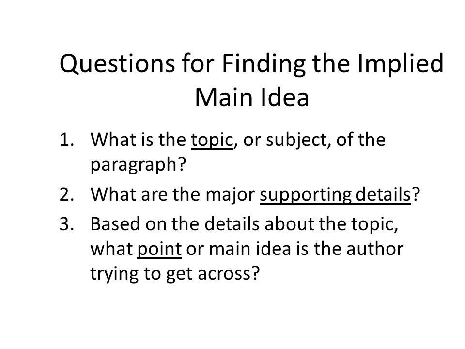 implied paragraph Every paragraph in your paper exists in order to support your thesis  writers  use an implied thesis when they want the reader to come to his or her own.