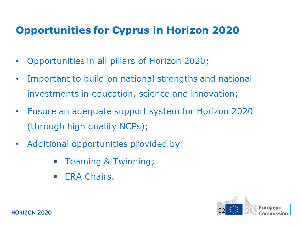 Opportunities for Cyprus in Horizon 2020