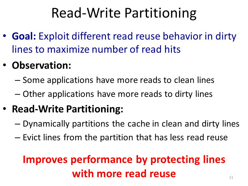 Read-Write Partitioning