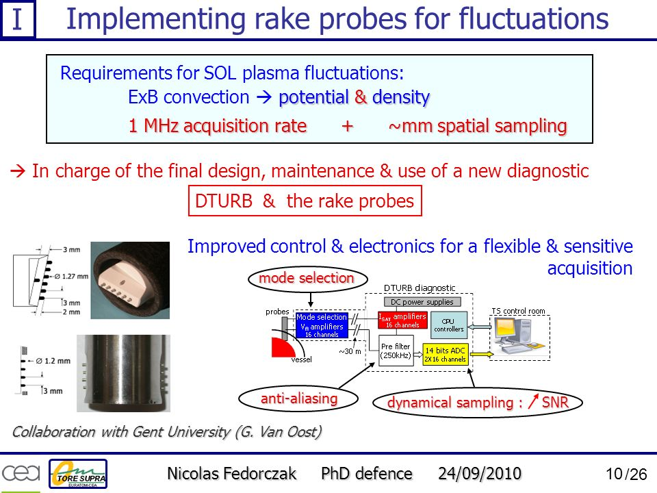 Implementing rake probes for fluctuations