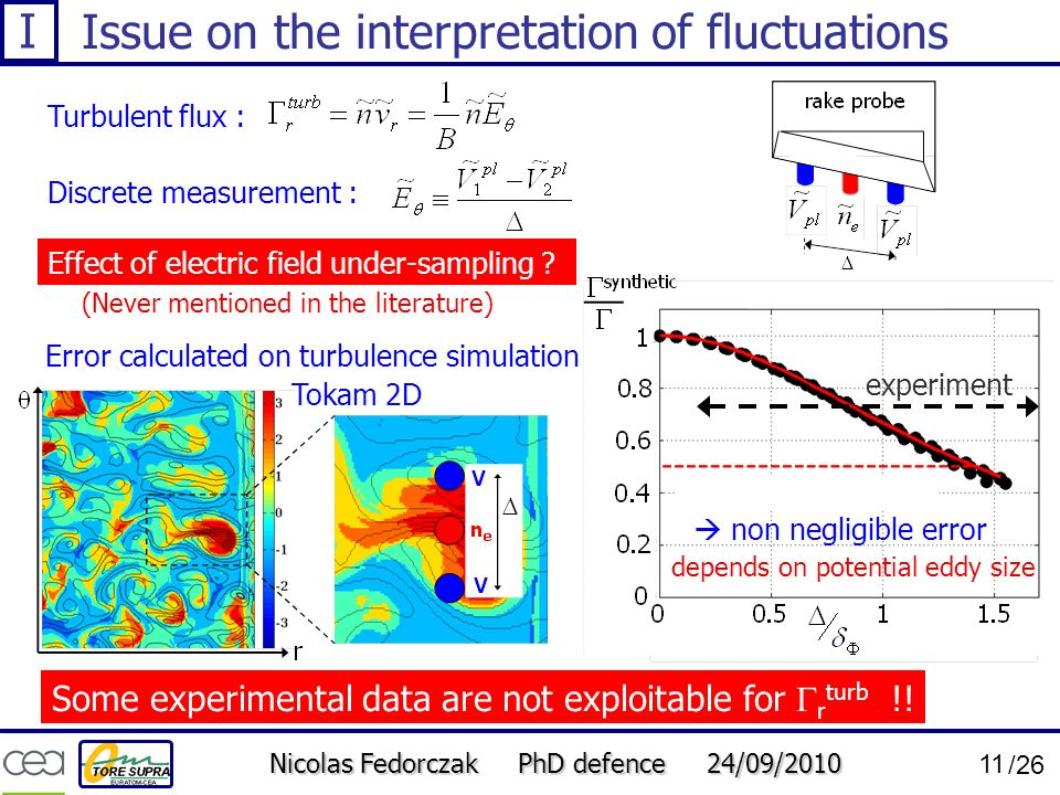 Issue on the interpretation of fluctuations