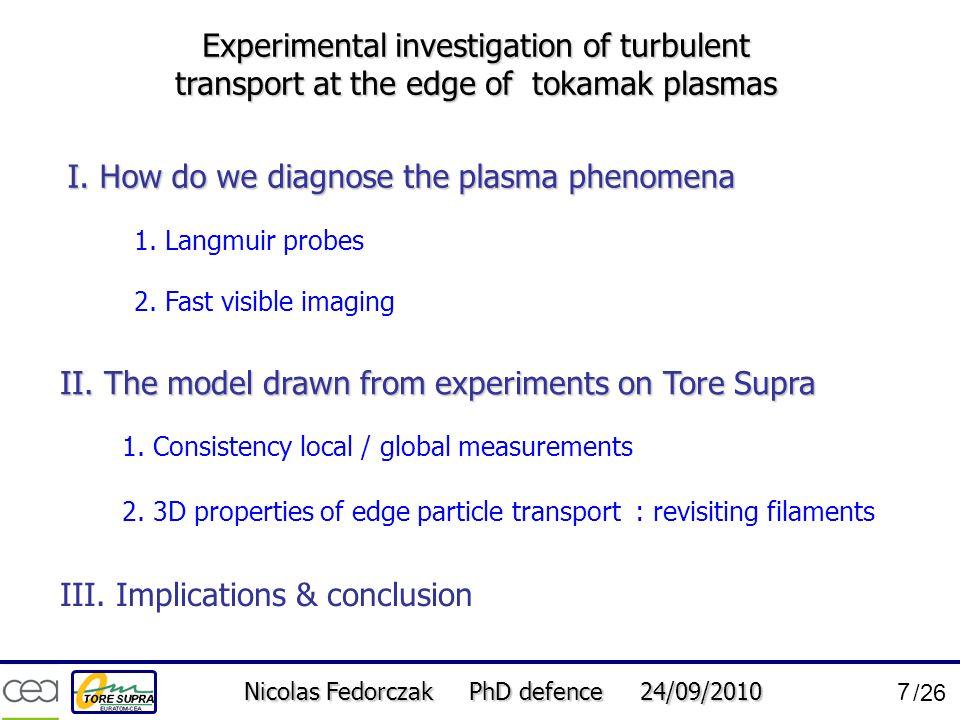 I. How do we diagnose the plasma phenomena