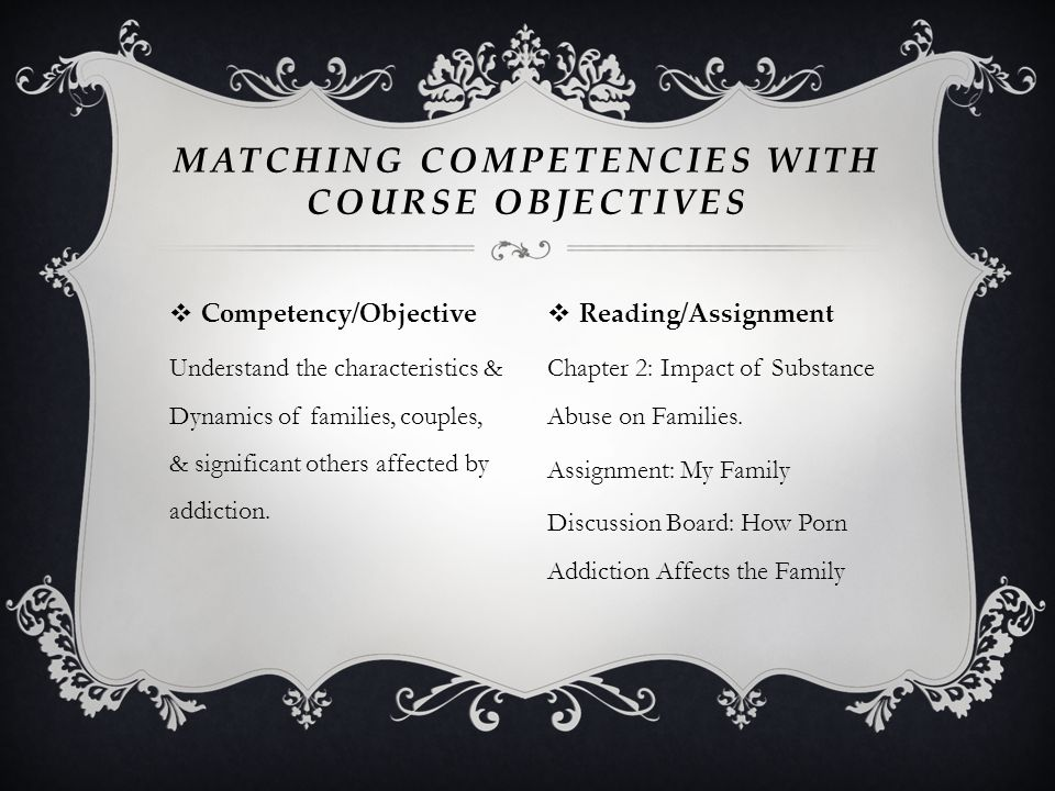 Matching Competencies with course Objectives