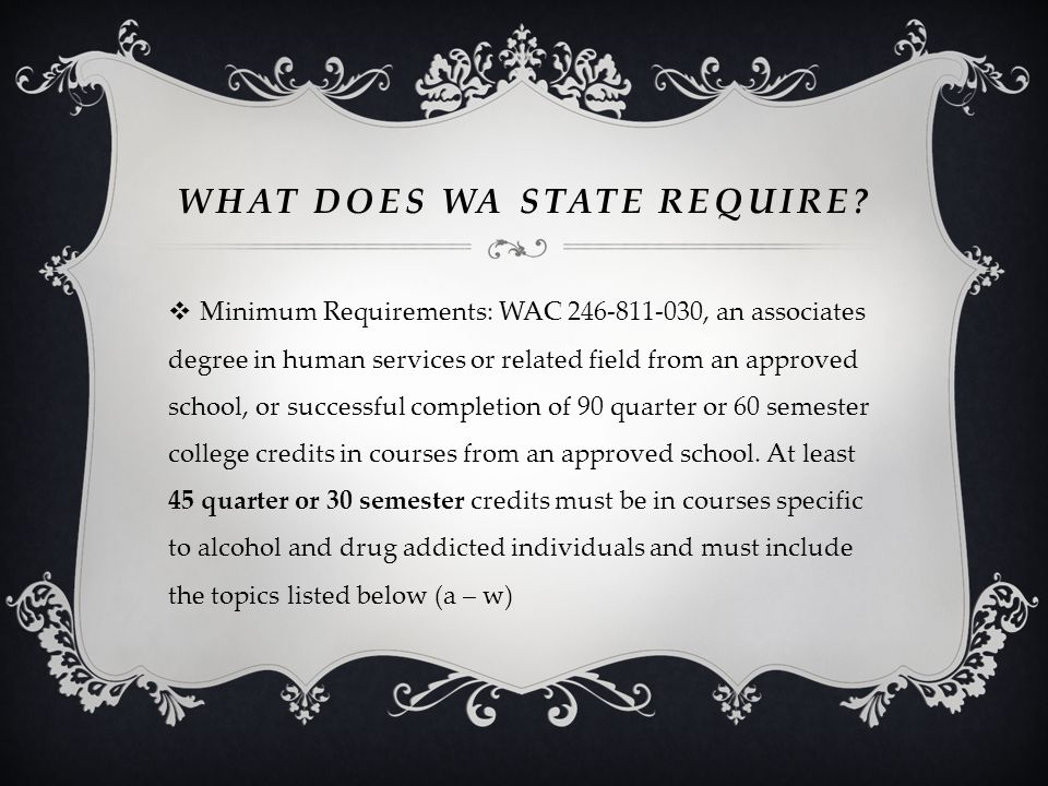 What does WA state Require