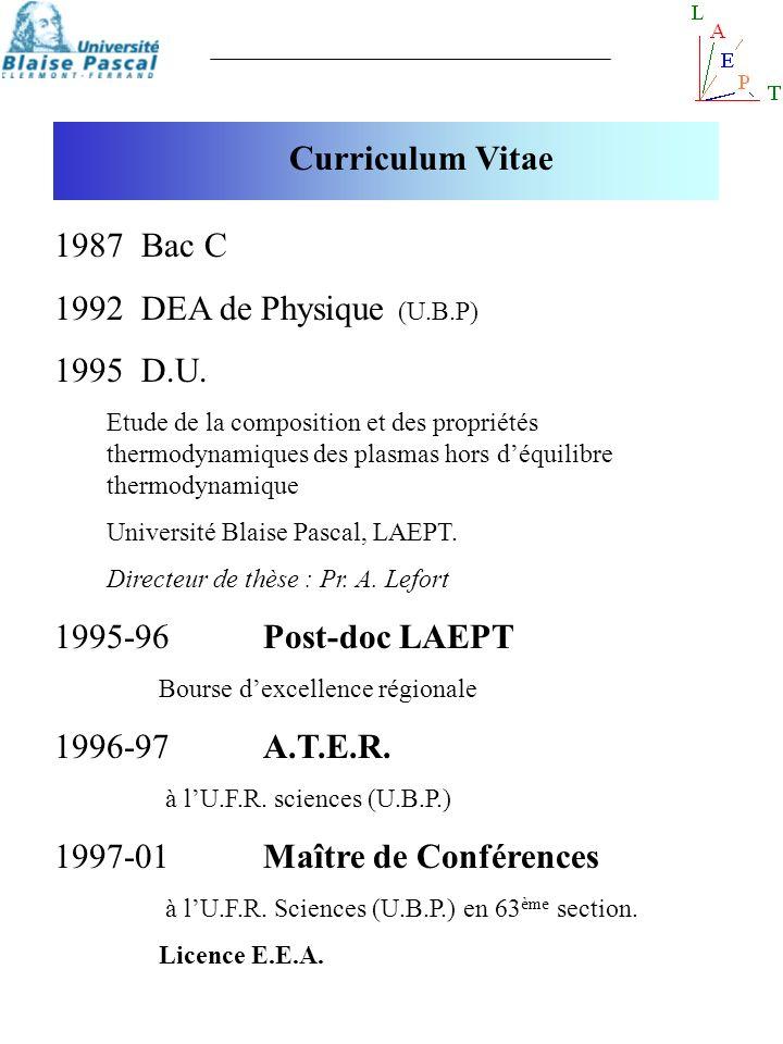 1997-01 Maître de Conférences