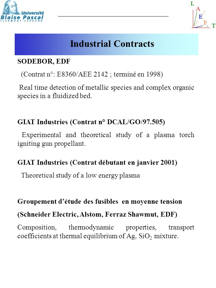 Industrial Contracts SODEBOR, EDF