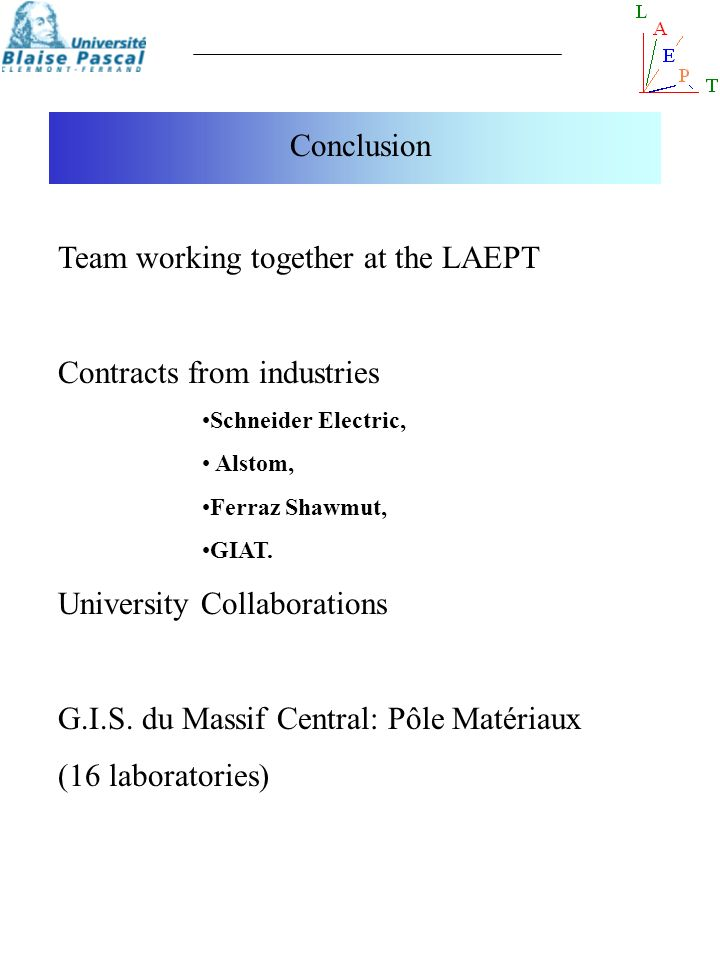 Team working together at the LAEPT