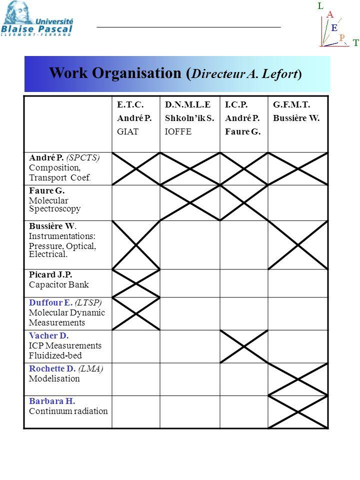 Work Organisation (Directeur A. Lefort)
