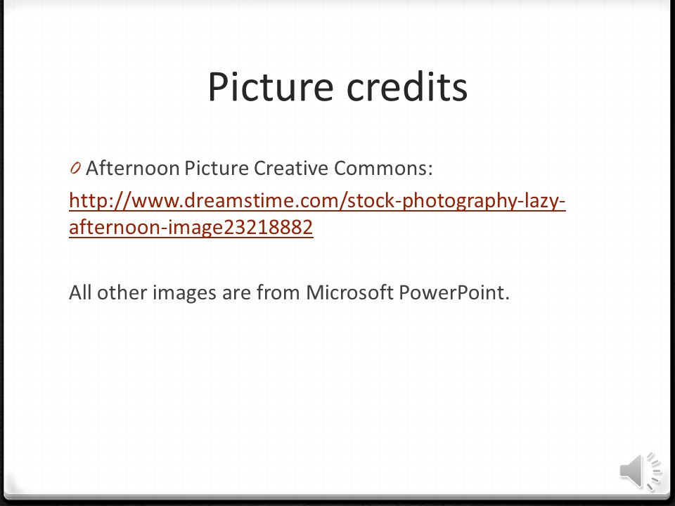 Picture credits Afternoon Picture Creative Commons:
