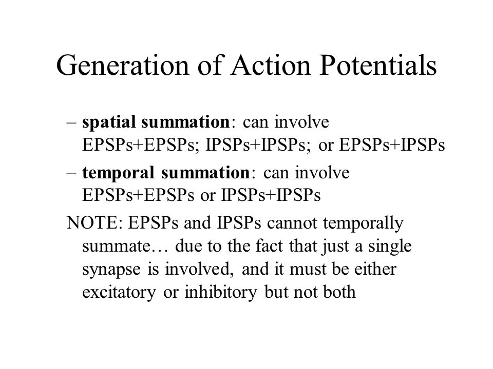 generation of action potentials essay Predictions 1 exceeding the threshold depolarization at the trigger zone decreases the likelihood of generation of action potentialnot the essay you're looking forget a custom essay 2.