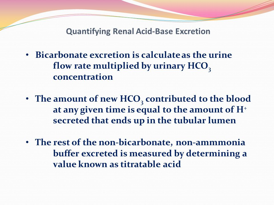 Quantifying Renal Acid-Base Excretion