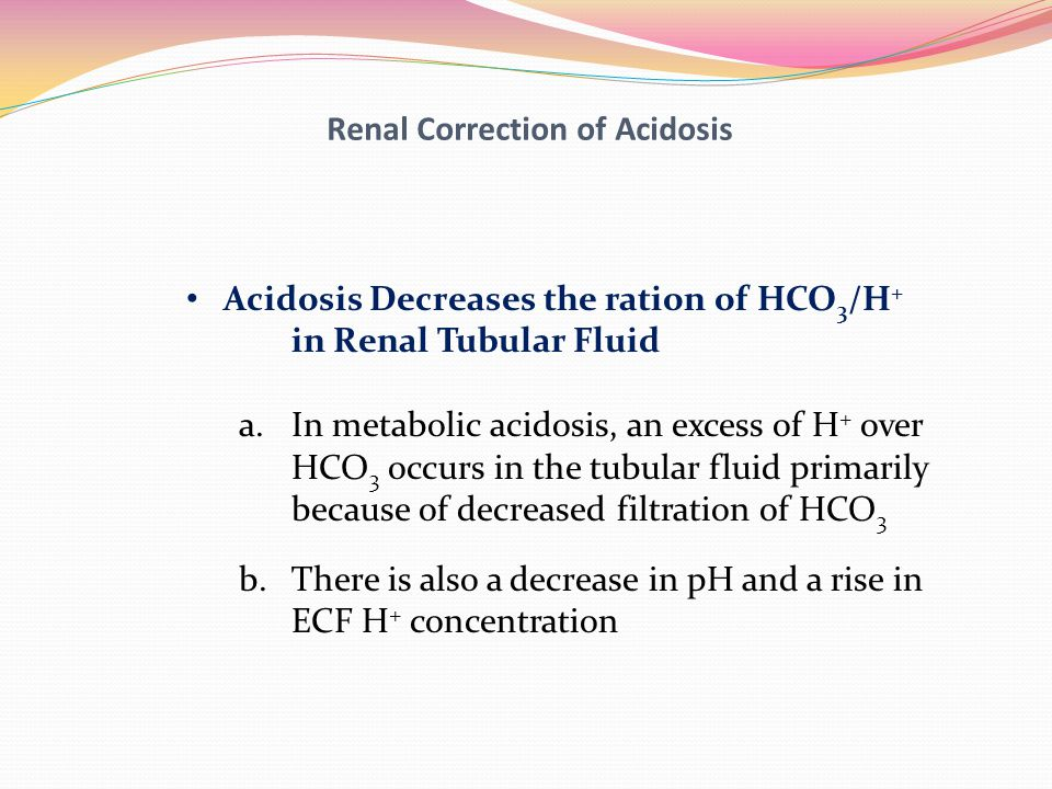 Renal Correction of Acidosis