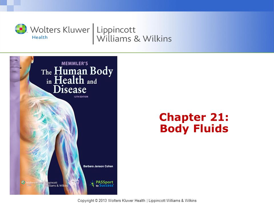 Chapter 21: Body Fluids. - ppt video online download