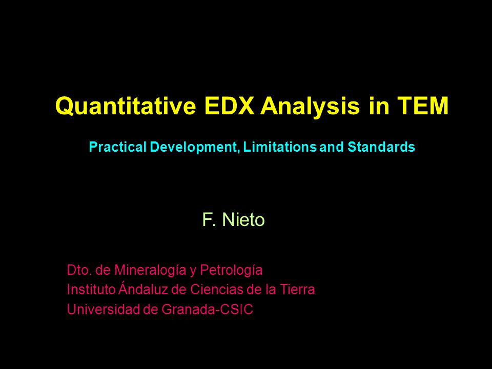Quantitative EDX Analysis in TEM