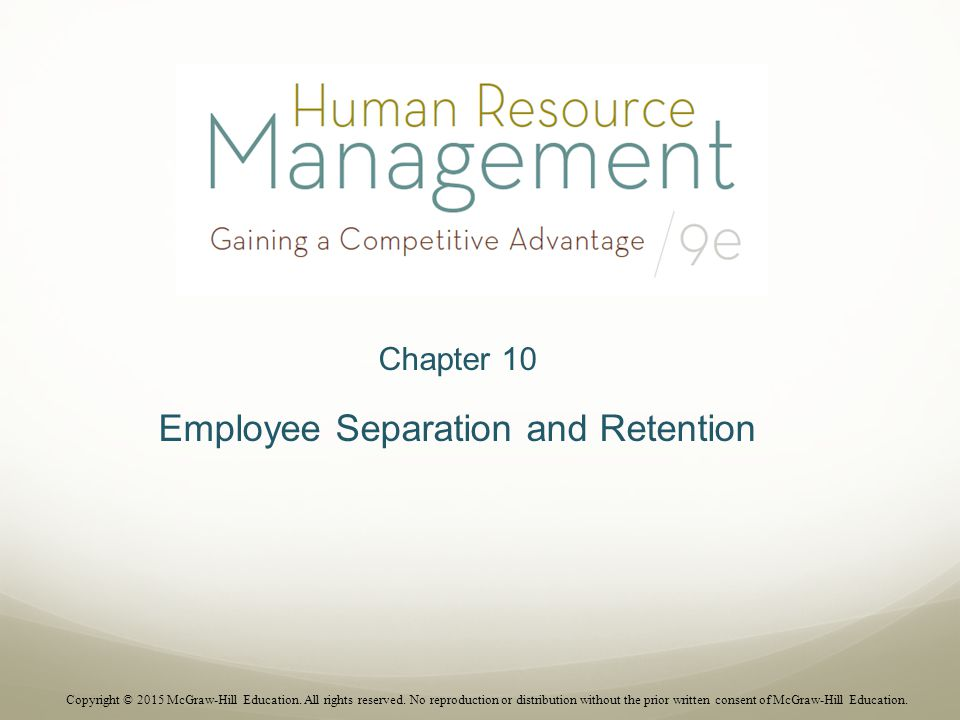 Managing Employee Retention And Separation Ppt Video Online