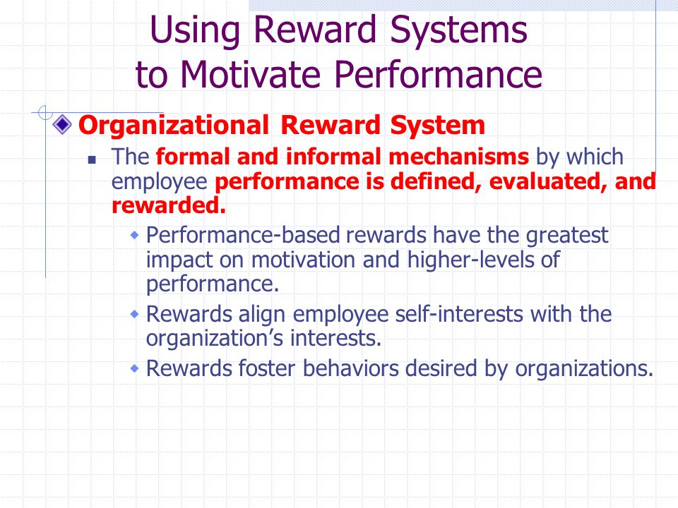 reward system for the employees for Reward systems & incentives reward system in a way that makes it fair for everyone employees if the reward system is not consistent with everyone in the.