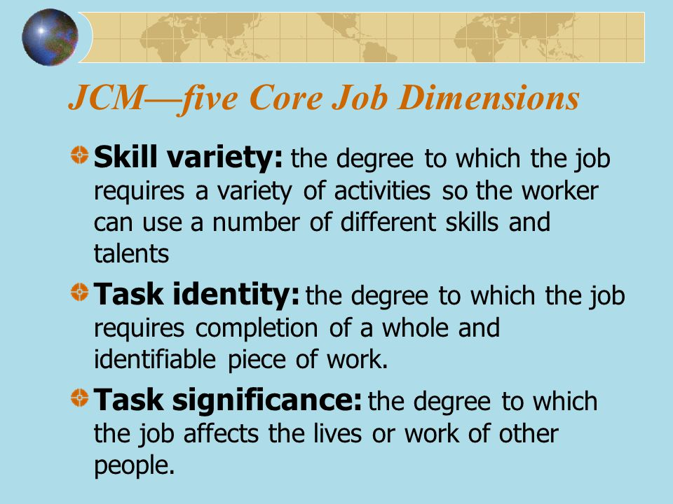 JCM—five Core Job Dimensions