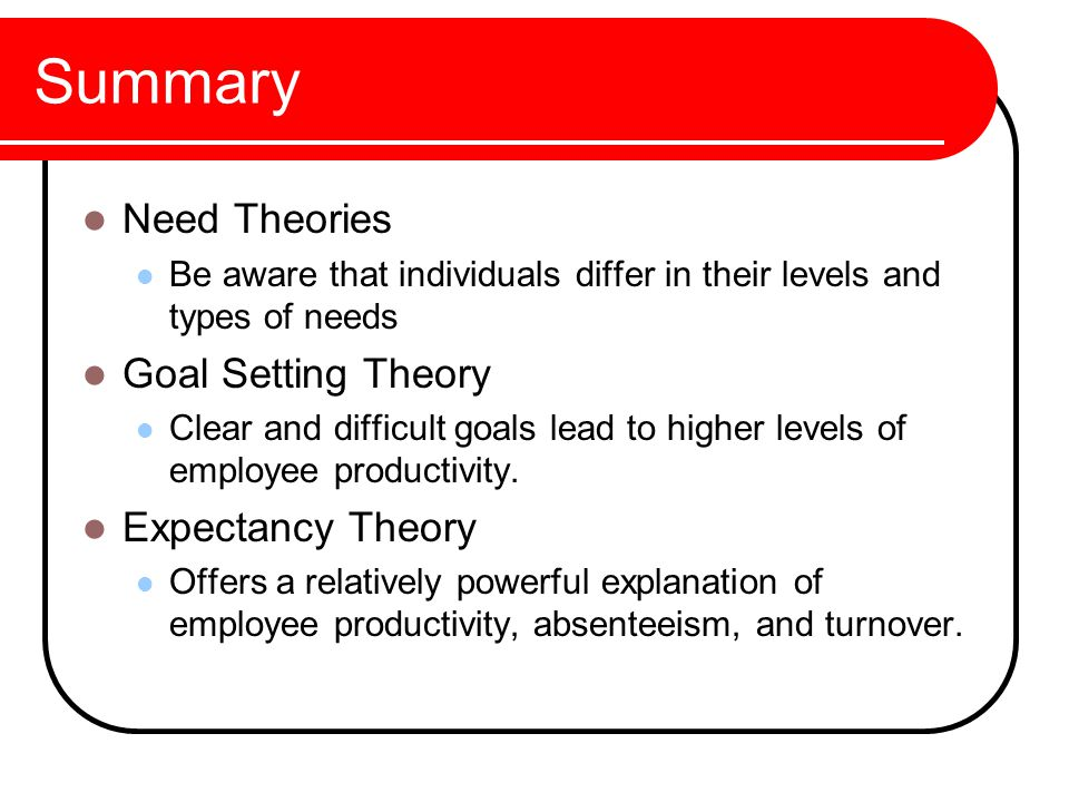 expectancy & goal setting theory essay Free essay: goal-setting theory and its effective application according to the book organisational behaviour on the pacific rim (2007), motivation is the.