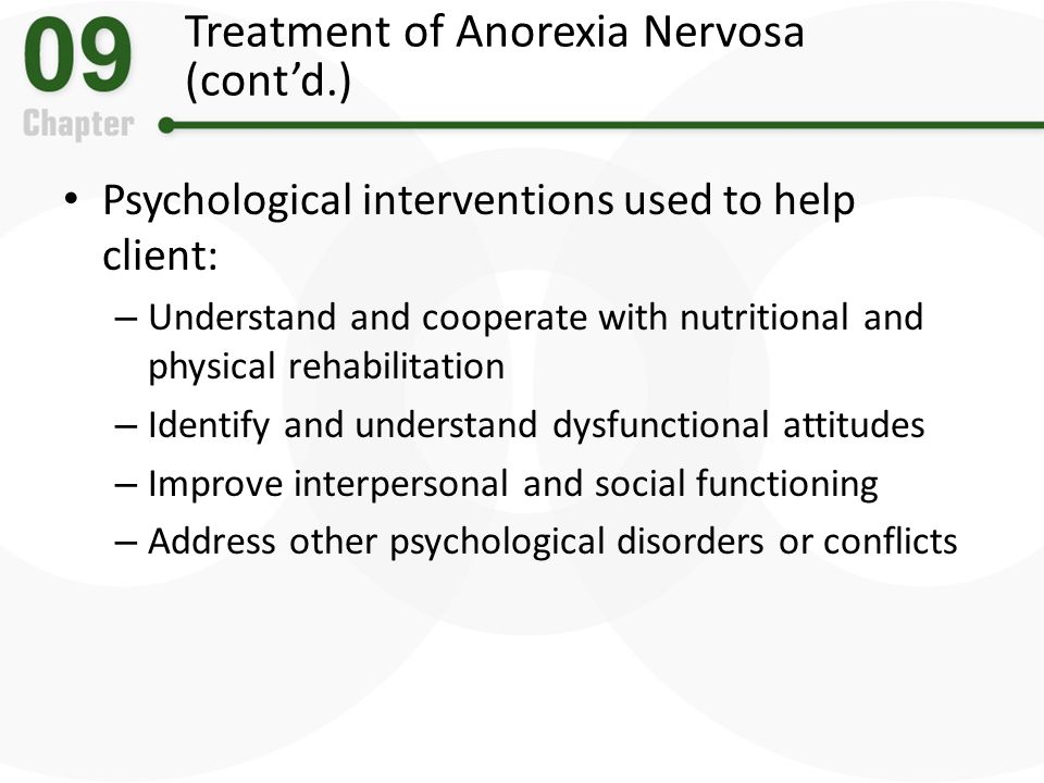 psychological disorders anorexia nervosa This brochure provides information about different types of eating disorders, including anorexia nervosa, bulimia nervosa, and binge-eating disorder it also addresses how eating disorders.