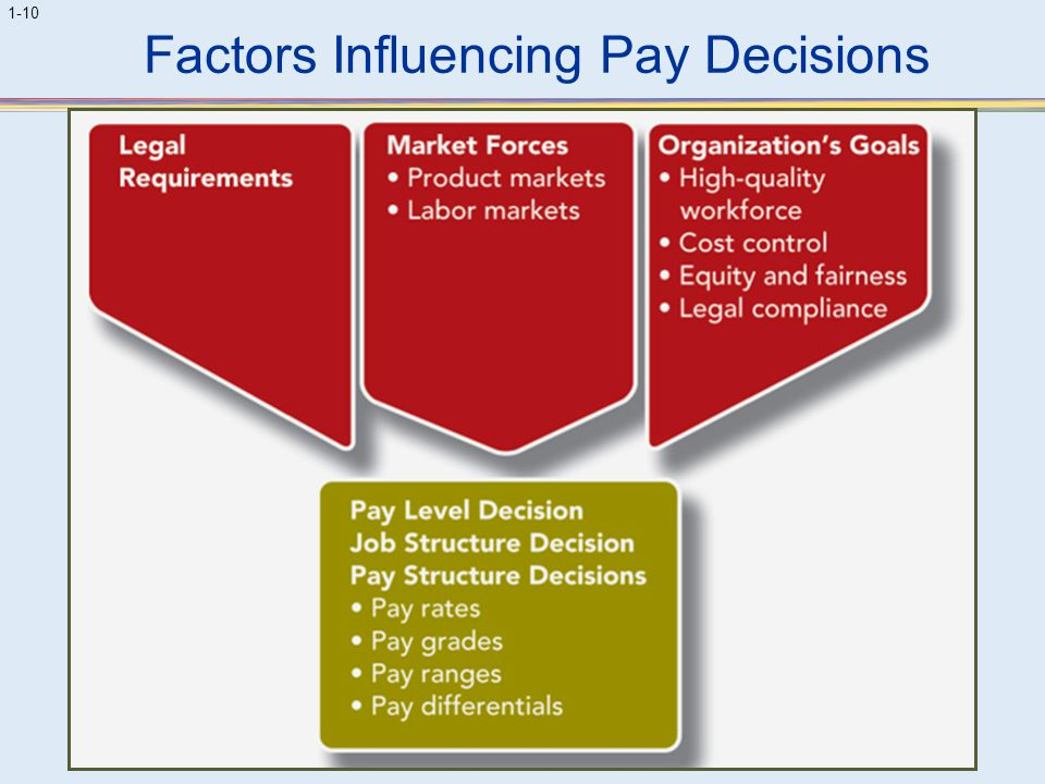 Factors Influencing Pay Decisions