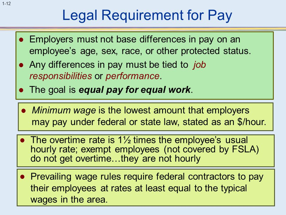 Legal Requirement for Pay
