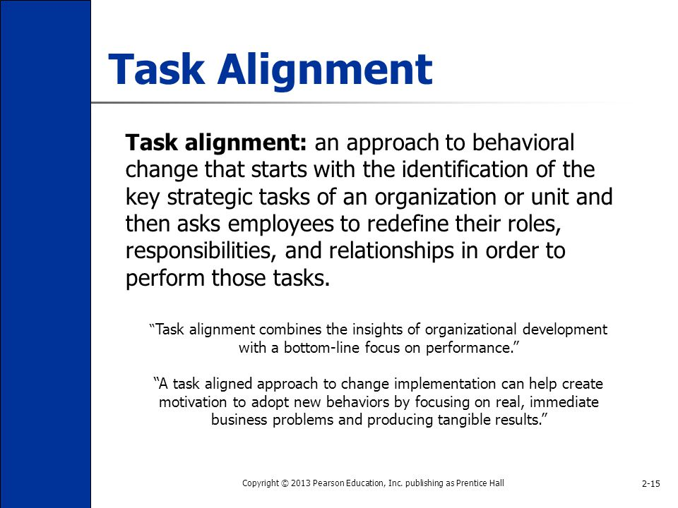 task alignment as a driver of behavioral change ©2014 project management institute, inc the project management office:  alignment comes from ensuring that we help deliver business  issues and swings in the competitive landscape can alter the company's business drivers, creating a cascade of change, large and small, across the portfolio.