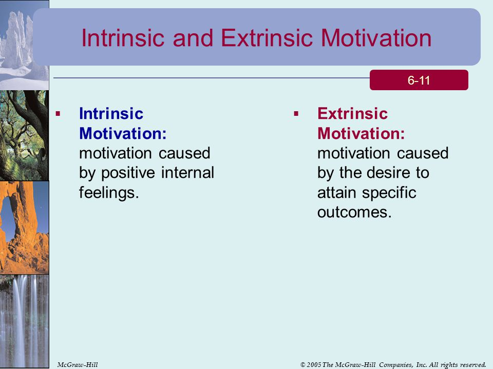 use of intrinsic and extrinsic rewards Recently, the traditional use of extrinsic rewards implied that the conflicting relationship between extrinsic and intrinsic rewards may have an adverse effect on work performance and job satisfaction what follows is a closer.