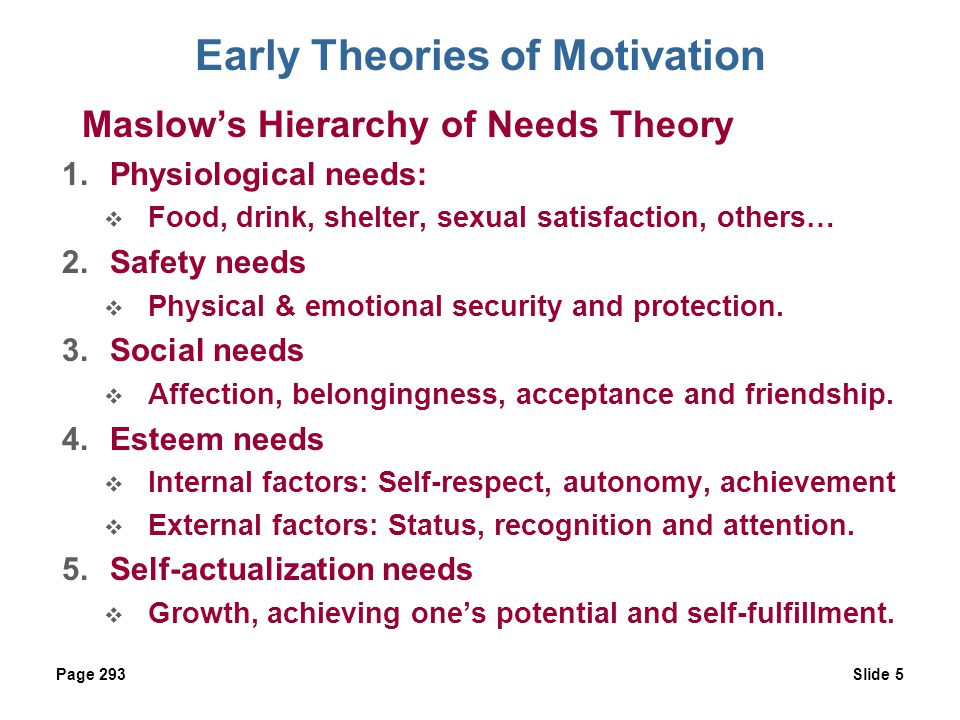 early theories of motivation 1 Start studying early childhood education theories learn vocabulary, terms, and more with flashcards, games, and other study tools.