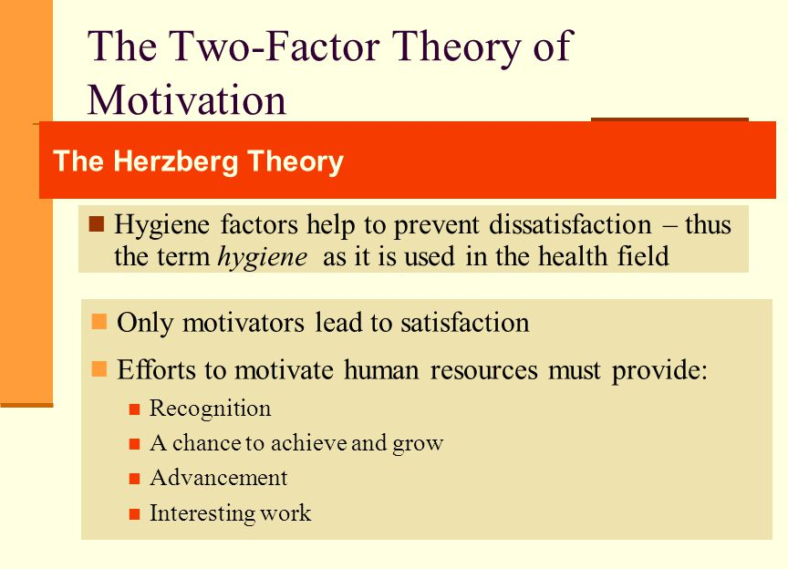 herzberg two factor theory of motivation pdf