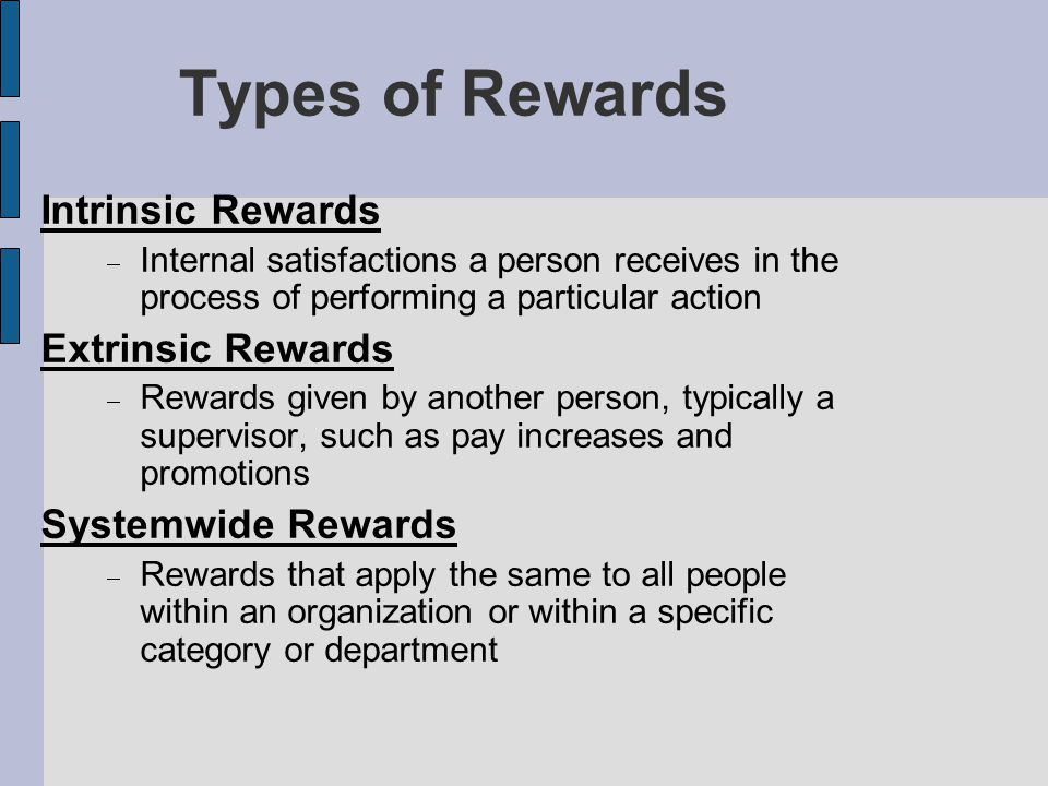 the impact of intrinsic and extrinsic rewards In this study tried to examine whether demographic factors such as age  differences on impact expat's attitudes in relation to intrinsic rewards, extrinsic  rewards,.