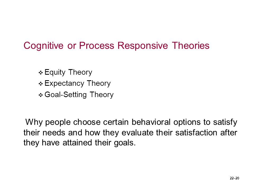 Cognitive or Process Responsive Theories