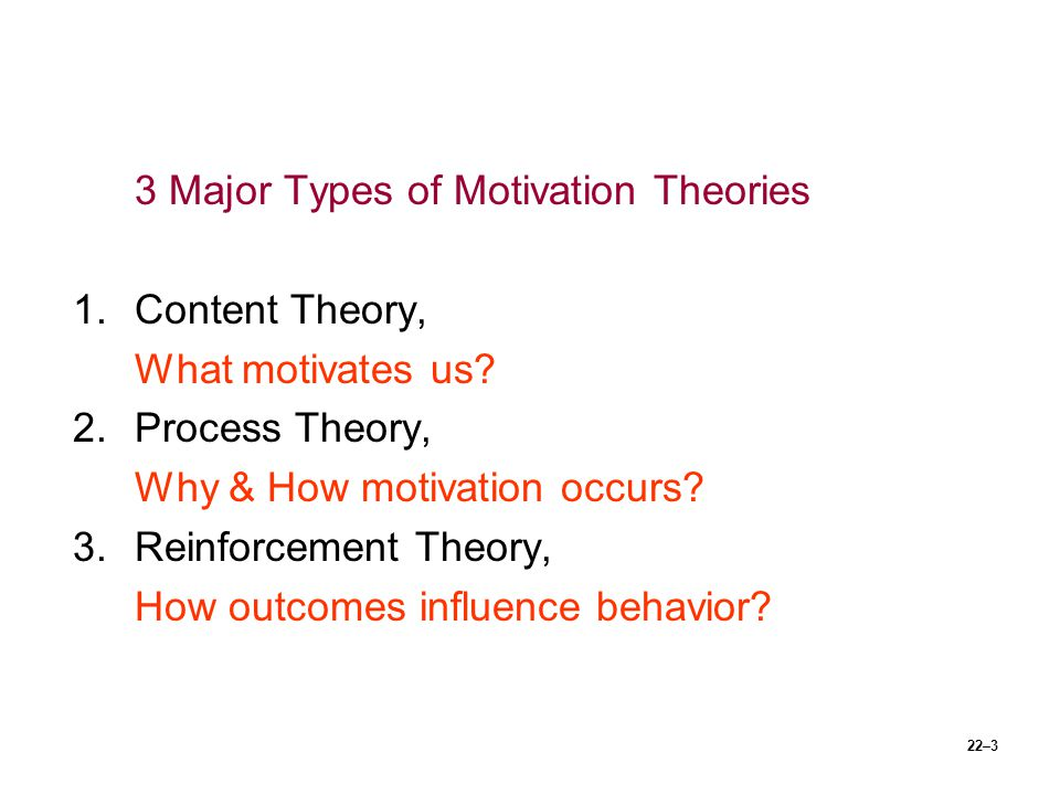 3 Major Types of Motivation Theories