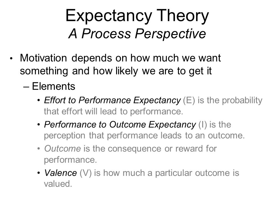 content and process perspective on motivation Learn more about some of the major theories of motivation the expectancy theory of motivation suggests that people will feel more instrumental in the process.