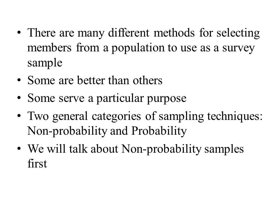 survey samples