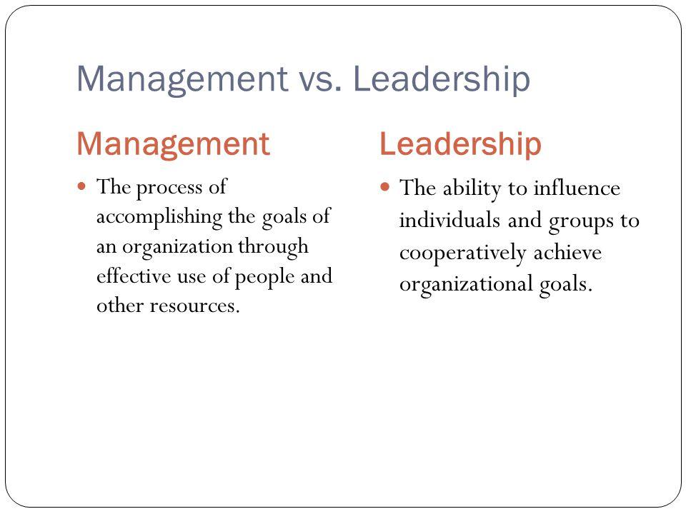 Management vs. Leadership