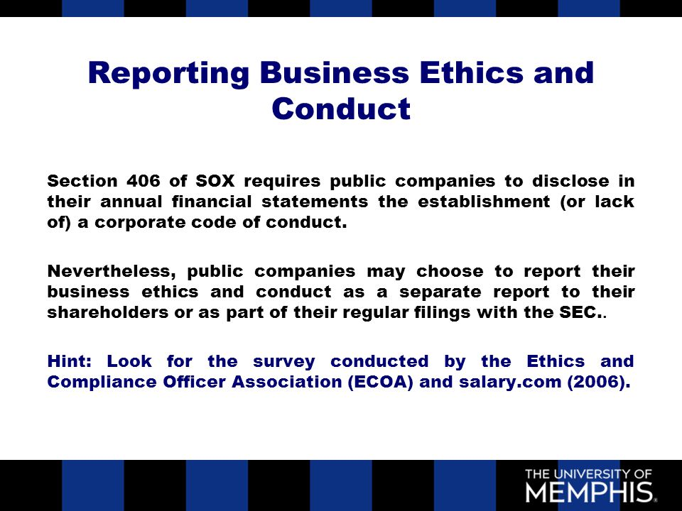Introduction to business ethics ppt download - Ethics and compliance officer association ...