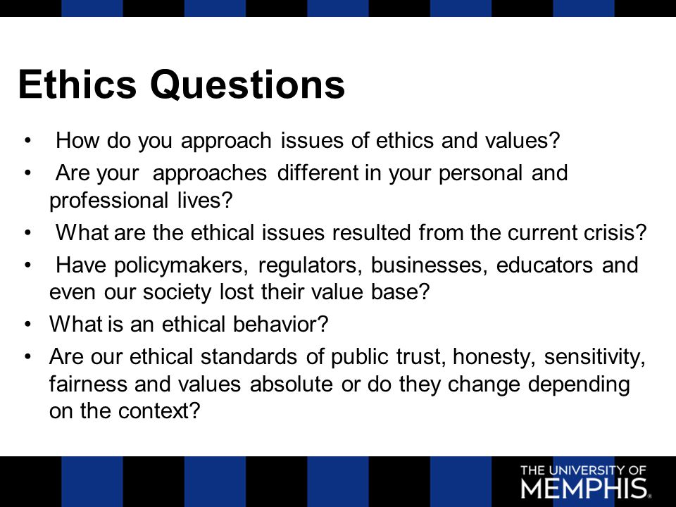 business ethics questions Choose your answers to the questions and click 'next' to see the next set of questions you can skip questions if you would like and come back to them later with the yellow go to first skipped.