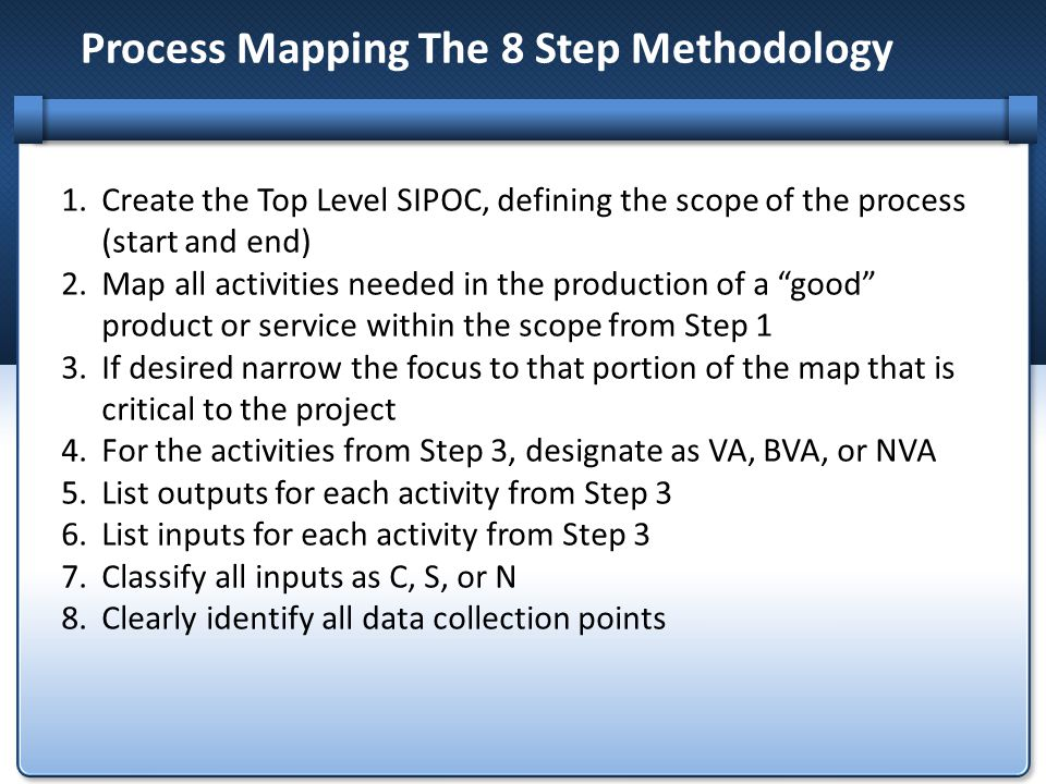 Process Mapping The 8 Step Methodology