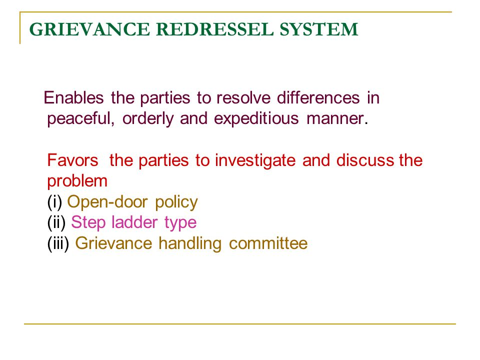 grievance handling mechanism at ril allahabad Some instances are women empowerment programs, coach, grievance handling mechanisms, employee support groups or network communities, child care support systems, thereby understanding the needs of every women and making them inclusive.