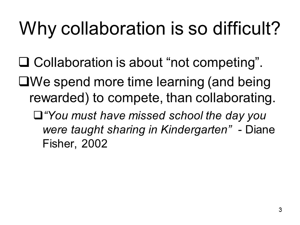 Why collaboration is so difficult