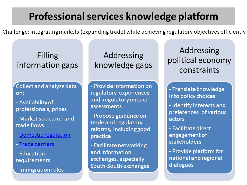Professional services knowledge platform