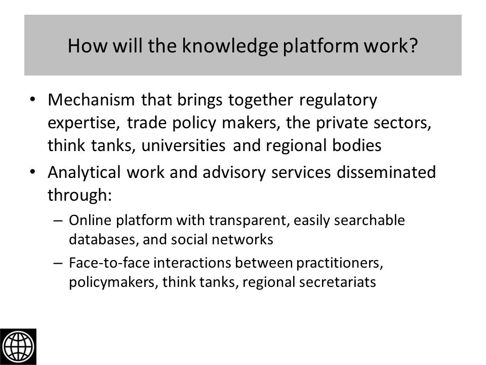 How will the knowledge platform work