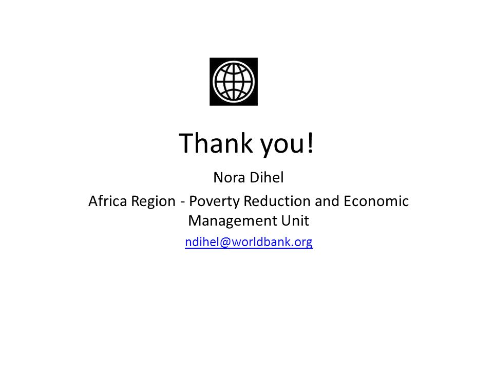 Africa Region - Poverty Reduction and Economic Management Unit