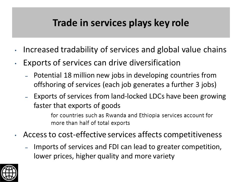 Trade in services plays key role