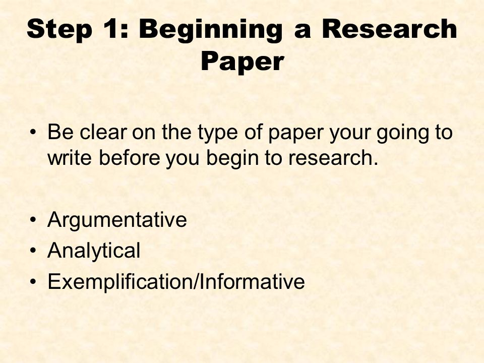 how to begin a research paper