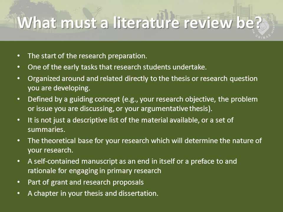 Critiquing a literature review in a research article   Non