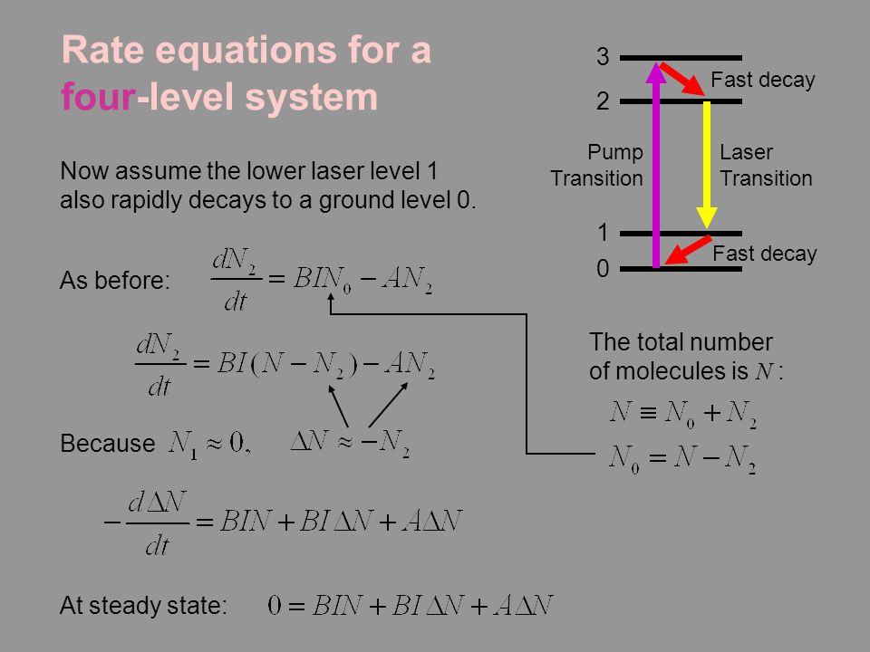four level laser system pdf
